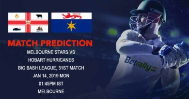 Cricket Prediction Big Bash League – Melbourne Stars vs Hobart Hurricanes – Melbourne Stars take on table-toppers Hobart Hurricanes