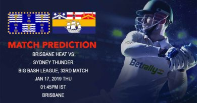 Cricket Prediction Big Bash League – Brisbane Heat vs Sydney Thunder – Back in form Heat and Thunder look to break away from competition