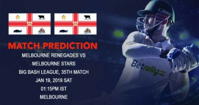 Cricket Prediction Big Bash League – Melbourne Renegades vs Melbourne Stars – Stars and Renegades clash in the second round of Melbourne Derby