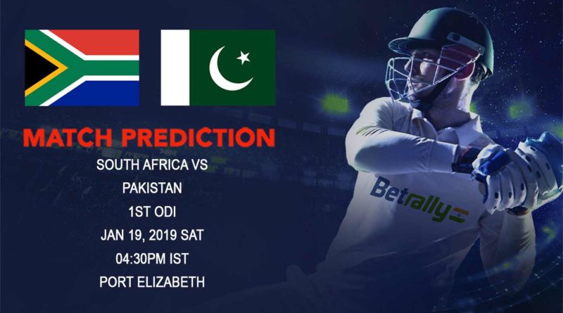 Cricket Prediction Pakistan tour of South Africa 2018/19 – South Africa vs Pakistan – South Africa take on Pakistan in the first ODI