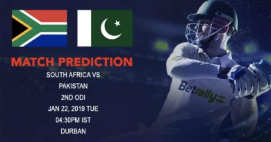 Cricket Prediction Pakistan tour of South Africa 2018/19 – South Africa vs Pakistan – Pakistan look to extend their lead over South Africa