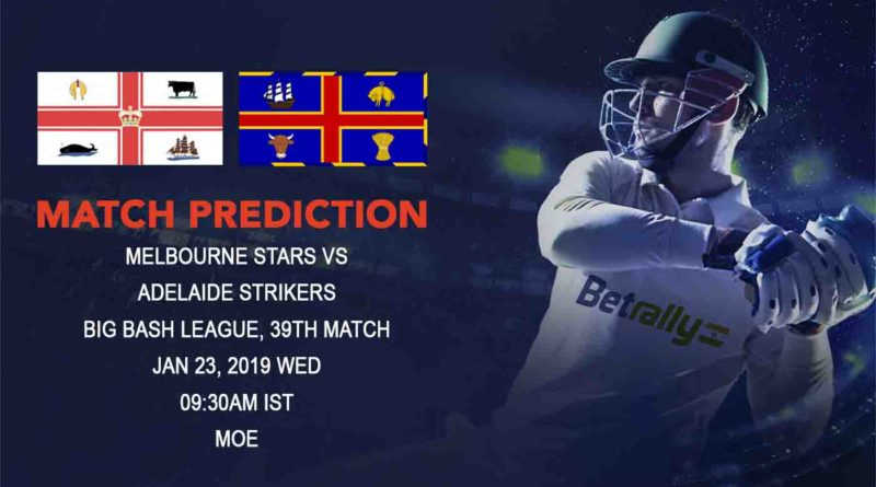 Cricket Prediction Big Bash League – Melbourne Stars vs Adelaide Strikers – Stars and Strikers look to strengthen their position in a crucial game