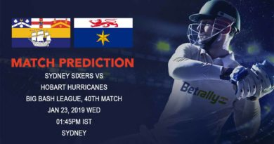 Cricket Prediction Big Bash League – Sydney Sixers vs Hobart Hurricanes – Sydney Sixers faces a tough challenge in Hobart Hurricanes