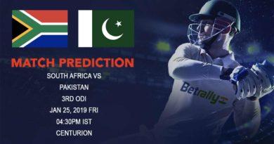Cricket Prediction Pakistan tour of South Africa 2018/19 – South Africa vs Pakistan – South Africa look to take the lead against inconsistent Pakistan
