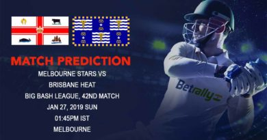 Cricket Prediction Big Bash League – Melbourne Stars vs Brisbane Heat – In form Melbourne Stars look to break away from the competition
