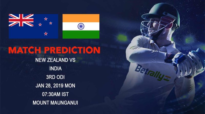 Cricket Prediction India tour of New Zealand – New Zealand vs India – India and New Zealand take on each other in the 3rd ODI