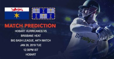 Cricket Prediction Big Bash League – Hobart Hurricanes vs Brisbane Heat – Frustrated Brisbane Heat take on table-toppers Hobart Hurricanes
