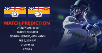 Cricket Prediction Big Bash League – Sydney Sixers vs Sydney Thunder – Sydney Sixers look to seal the semifinal spot against Sydney Thunder
