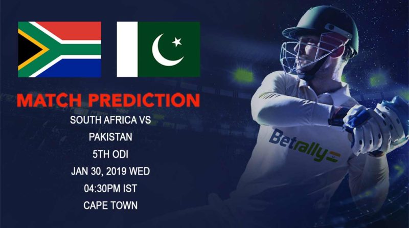 Cricket Prediction Pakistan tour of South Africa 2018/19 – South Africa vs Pakistan – Exciting decider in store as confident Pakistan take on hosts