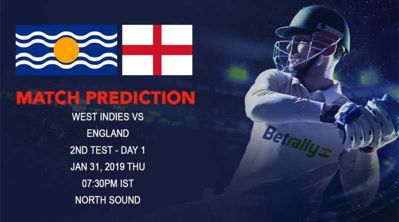 Cricket Prediction England tour of West Indies – West Indies vs England – Embarrassed England look to bounce back in the 2nd Test Match