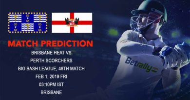 Cricket Prediction Big Bash League – Brisbane Heat vs Perth Scorchers – Struggling sides look to break the losing streak