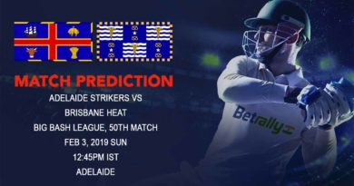 Big Bash League – Adelaide Strikers vs Brisbane Heat – Adelaide Strikers look to register second consecutive victory