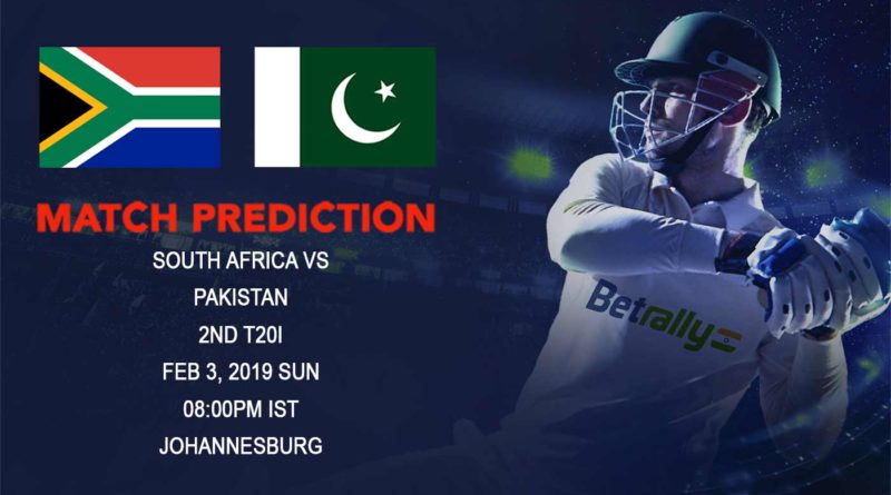 Cricket Prediction Pakistan tour of South Africa 2018/19 – South Africa vs Pakistan – South Africa and Pakistan take on each other in the second T20