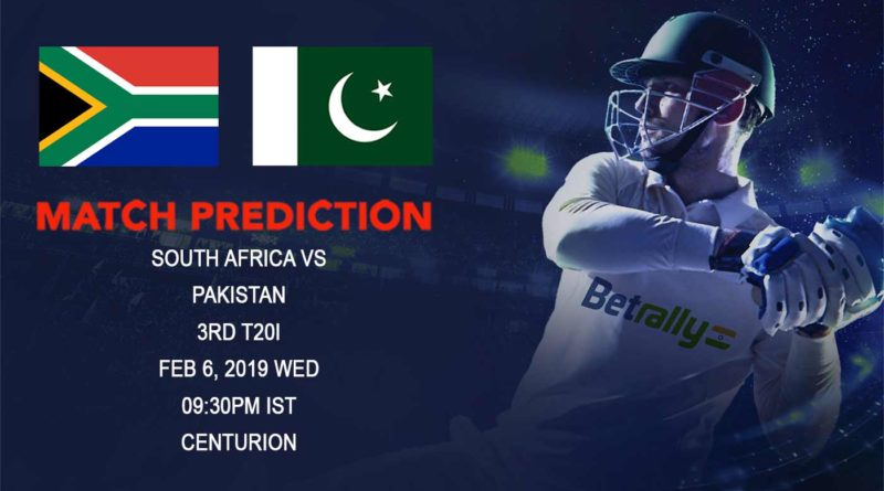 Cricket Prediction Pakistan tour of South Africa 2018/19 – South Africa vs Pakistan – Under fire Pakistan look to finish the tour on a high