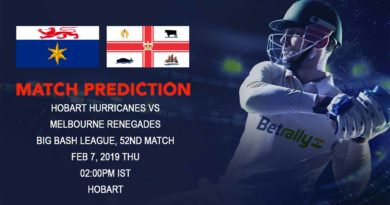 Cricket Prediction Big Bash League – Hobart Hurricanes vs Melbourne Renegades – Melbourne Renegades take on Hobart Hurricanes in their final group game