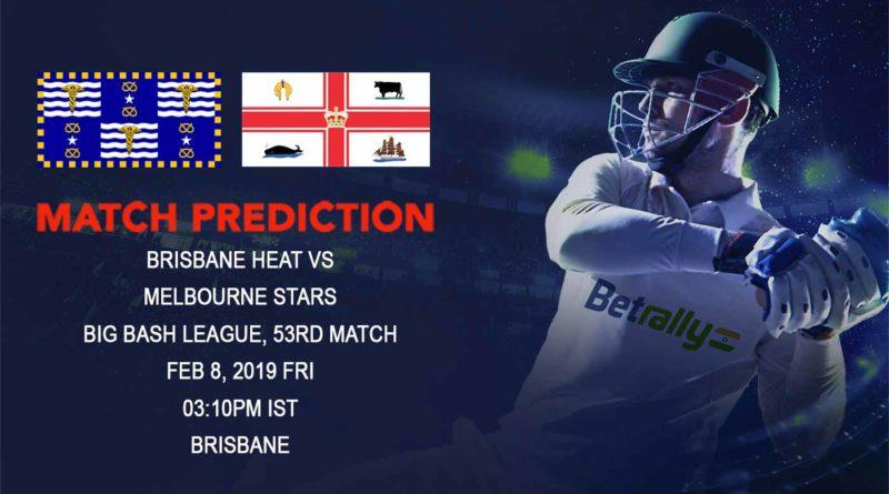 Cricket Prediction Big Bash League – Brisbane Heat vs Melbourne Stars – Brisbane Heat play Melbourne Stars in a crucial game