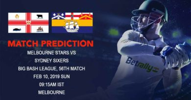 Cricket Prediction Big Bash League – Melbourne Stars vs Sydney Sixers – Melbourne Stars look to seal the semifinal spot
