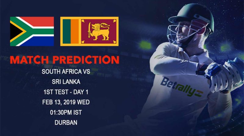 Cricket Prediction Sri Lanka tour of South Africa – South Africa vs Sri Lanka – Sri Lanka face a daunting task against South Africa
