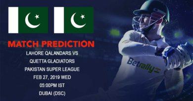 Cricket Prediction Pakistan Super League – Lahore Qalandars vs Quetta Gladiators – Lahore Qalandars take on table-toppers Quetta Gladiators