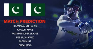 Cricket Prediction Pakistan Super League – Islamabad United vs Karachi Kings – Islamabad United look to continue their dominance over Karachi Kings