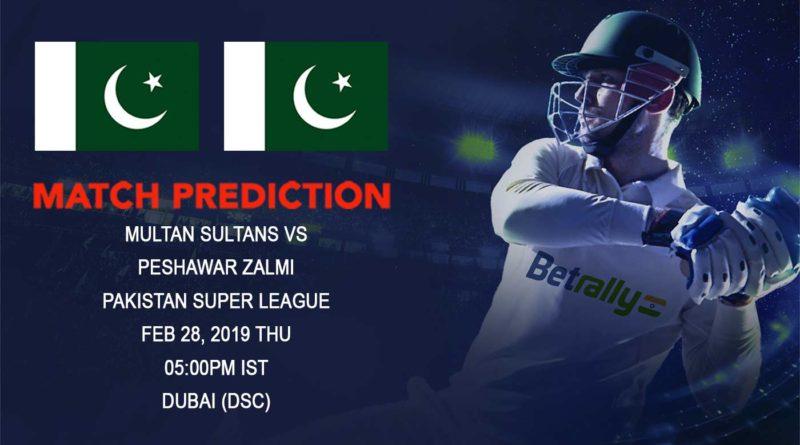 Cricket Prediction Pakistan Super League – Multan Sultans vs Peshawar Zalmi – Multan Sultans look to move up from the last spot