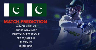 Cricket Prediction Pakistan Super League – Karachi Kings vs Lahore Qalandars – Karachi Kings look to continue the winning momentum