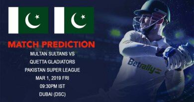 Cricket Prediction Pakistan Super League – Multan Sultans vs Quetta Gladiators – Multan Sultans face a tough challenge against Quetta Gladiators