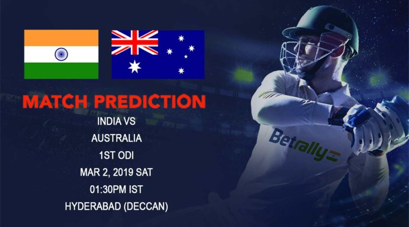 Cricket Prediction Australia tour of India – India vs Australia – Stunned India take on Australia in first ODI
