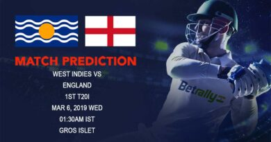 Cricket Prediction England tour of West Indies – West Indies vs England – World Champions West Indies take on England in First T20
