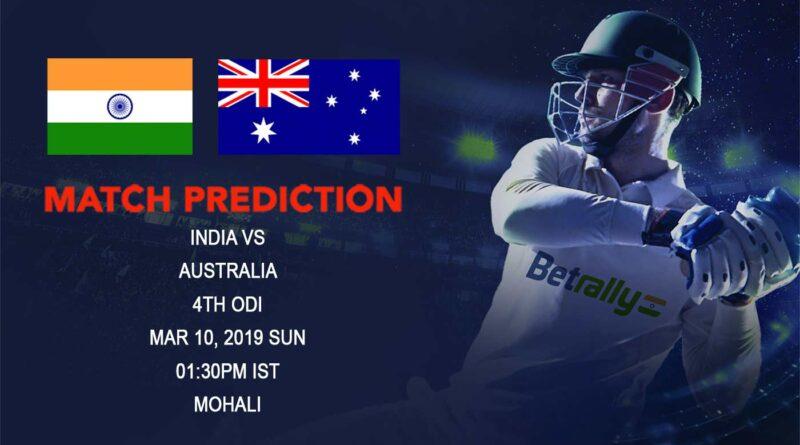 Cricket Prediction Australia tour of India – India vs Australia – India take on Australia in the fourth ODI