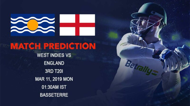 Cricket Prediction England tour of West Indies – West Indies vs England – West Indies and England clash for one final time on the tour