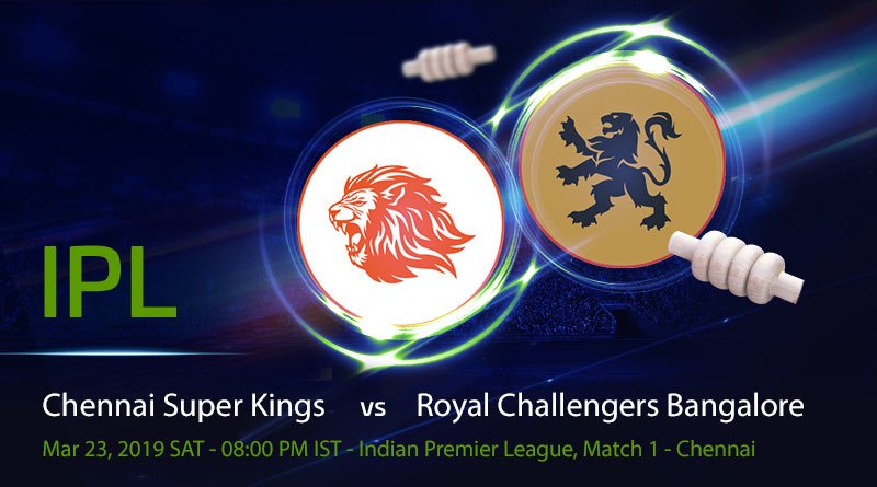 Cricket Prediction Indian Premier League – Chennai Super Kings vs Royal Challengers Bangalore – Defending champions CSK take on RCB in the first game