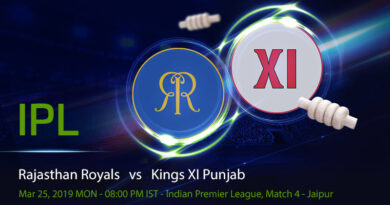 Cricket Prediction Indian Premier League – Rajasthan Royals vs Kings XI Punjab – Rajasthan Royals take on Kings XI Punjab in their first game