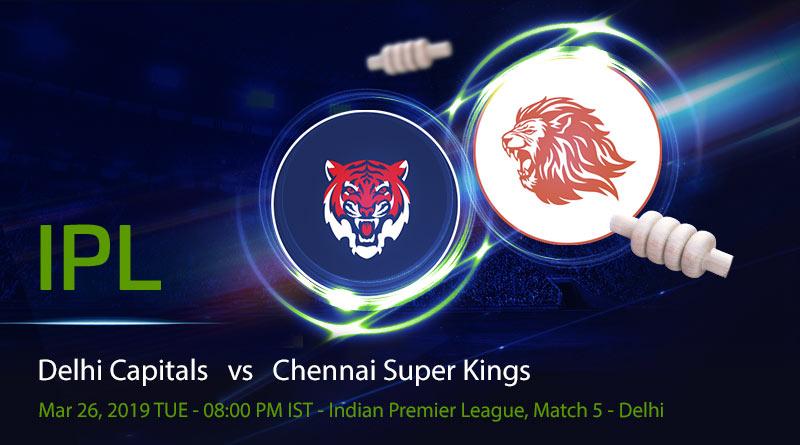 Cricket Prediction Indian Premier League – Delhi Capitals vs Chennai Super Kings – Delhi Capitals take on mighty Chennai Super Kings