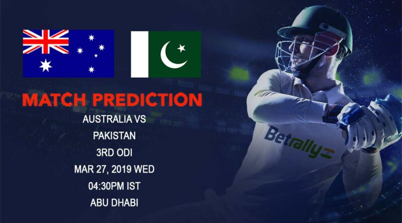 Cricket Prediction Australia tour of Australia tour of United Arab Emirates – Australia vs Pakistan – Australia look to seal the series at Abu Dhabi