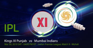 Cricket Prediction Indian Premier League – Kings XI Punjab vs Mumbai Indians – Punjab look to forget the KKR loss