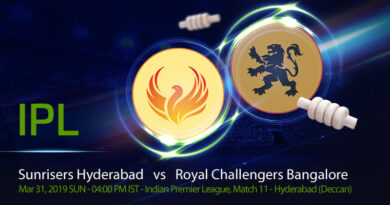 Cricket Prediction Indian Premier League – Sunrisers Hyderabad vs Royal Challengers Bangalore – Sunrisers Hyderabad take on slipping Royal Challengers Bangalore in their second game