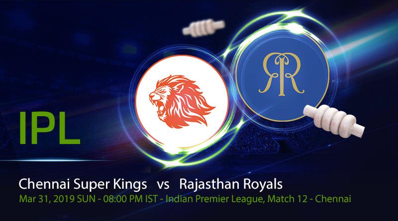 Cricket Prediction Indian Premier League – Chennai Super Kings vs Rajasthan Royals – Chennai Super Kings take on Rajasthan Royals in their third game of the IPL