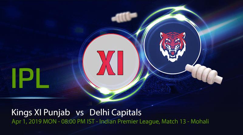 Cricket Prediction Indian Premier League – Kings XI Punjab vs Delhi Capitals – Kings XI Punjab take on Delhi Capitals in their fourth game