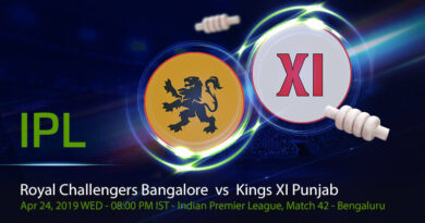 Cricket Prediction Indian Premier League –Royal Challengers Bangalore vs Kings XI Punjab – Rejuvenated RCB take on KXIP at home