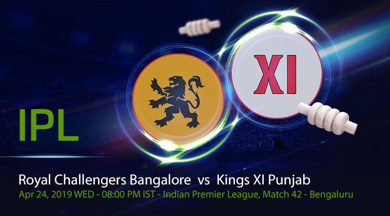 Cricket Prediction Indian Premier League –Royal Challengers Bangalore vs Kings XI Punjab – Rejuvenated RCB take on KXIP at home