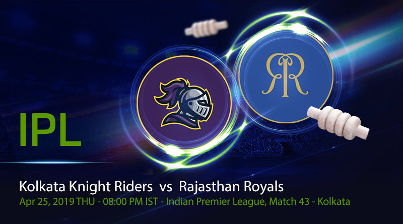 Cricket Prediction Indian Premier League –Kolkata Knight Riders vs Rajasthan Royals – Struggling KKR and RR meet again
