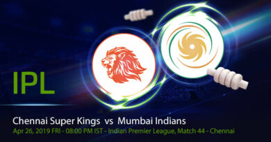 Cricket Prediction Indian Premier League – Chennai Super Kings vs Mumbai Indians – Powerful Chennai Super Kings meet mighty Mumbai Indians again