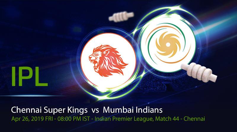 Cricket Prediction Indian Premier League – Chennai Super Kings vs Mumbai Indians – Powerful Chennai Super Kings meet mighty Mumbai Indians again