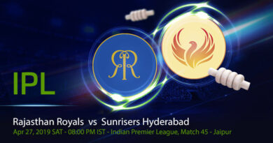 Cricket Prediction Indian Premier League – Rajasthan Royals vs Sunrisers Hyderabad – Struggling Rajasthan Royals take on Sunrisers Hyderabad in a must-win game