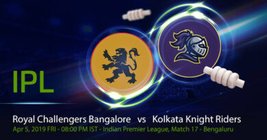 Cricket Prediction Indian Premier League – Royal Challengers Bangalore vs Kolkata Knight Riders – Kolkata Knight Riders look to forget their super over loss against struggling Royal Challengers Bangalore