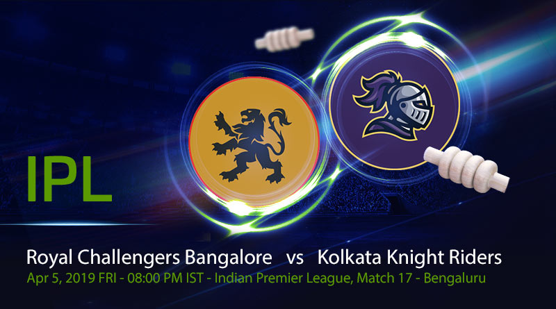 Cricket Prediction Indian Premier League – Royal Challengers Bangalore vs Kolkata Knight Riders – Kolkata Knight Riders look to forget their super over loss against struggling Royal Challengers Bangalore