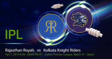 Cricket Prediction Indian Premier League – Rajasthan Royals vs Kolkata Knight Riders – Fresh from their win, Rajasthan Royals take on Kolkata Knight Riders