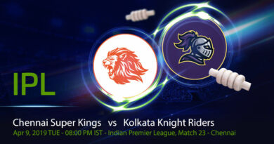 Cricket Prediction Indian Premier League – Chennai Super Kings vs Kolkata Knight Riders – Strong rivals resume their rivalry at Chennai