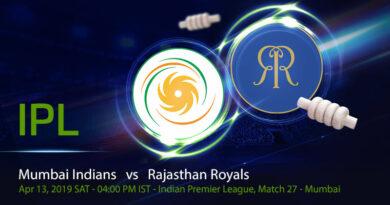Cricket Prediction Indian Premier League – Mumbai Indians vs Rajasthan Royals – Back in form Mumbai Indians take on vulnerable Rajasthan Royals